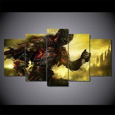 Home Decor Art Game Pictures Voor Woonkamer HD gedrukt 5 Stuks Dark Souls Canvas Schilderij Frame Tekens Poster PENGDA