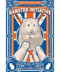Hamsters of the world, unite! Hamster Pics, Hamster Habitat, Baby Animals, Cute Animals, Syrian Hamster, Propaganda Art, Cute Hamsters, Hippie Art, Rodents