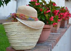 straw bag and hat #straw #bag