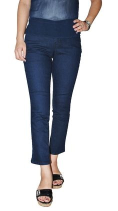 Charter Club Women`s Petite Curvy Fit Straight Leg Jeans (Blue, 4P). Charter Club's petite curvy-fit straight-leg jeans are a flattering everyday option!. Low rise: waistband sits at hips. Five-pocket styling . Straight leg. Curvy, contoured fit through hips and thighs. Button and zipper closure; belt loops. Approximate inseam: 28-1/2 inches.