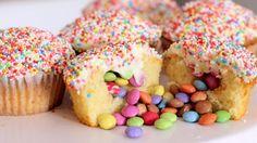 Pinata Cupcakes Rezept als Back-Video zum selber machen! Ganz einfach Schritt für Schritt erklärt!