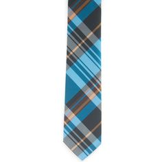 Light Blue Plaid Necktie