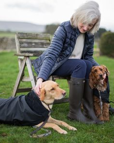 In partnership with Harrington's, we met up with their nutritionist and her lovely Barbour Dogs.