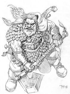 Dwarven Dragonslayer by SOLIDToM on DeviantArt