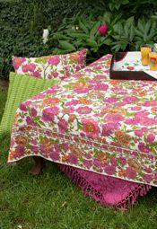 Floribunda Tablecloth - Ecru