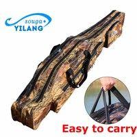 Wish | Large Capacity Fishing Bag 130CM Green Bouble Layer Upset Wear-resisting Fishing Tackle Bag Fishing Rod Bag