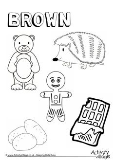 Brown Things Colouring Page Color worksheets for preschool, Preschool colors, Color activities Color Worksheets For Preschool, Alphabet Tracing Worksheets, Preschool Coloring Pages, Preschool Colors, Free Preschool, Color Activities, Colouring Pages, Coloring Worksheets, Numbers Preschool