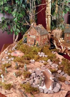 """Halloween Village Display / Dept. 56 Halloween Display / Department 56 Snow Village Halloween """"Screech Owl Farm"""""""