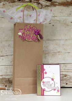 Holly's Hobbies: Happy Birthday Gorgeous Gift Bag - SU! Artisan Design Team Blog Hop