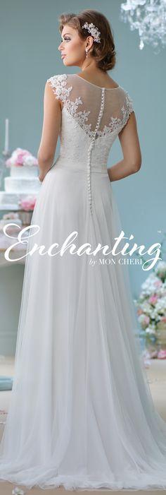 Enchanting by Mon Cheri Spring 2016 ~Style No. 116137 #laceandtulleweddingdress