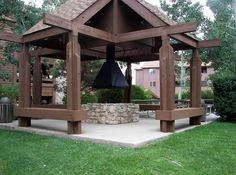 Idea for Gazebo with Fire Pit                                                                                                                                                                                 More