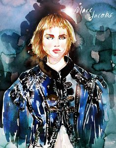 Marc Jacobs SS14 illustration, via Samantha Hahn