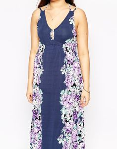 ASOS CURVE Exclusive Maxi Dress in Mirror Floral