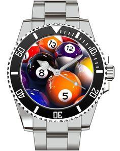 Billiard Billiardtable Kö Pooltable Watch -Men Watch Jewelry Billiards Gift Present for Men- Watch 1971 von UHR63 auf Etsy