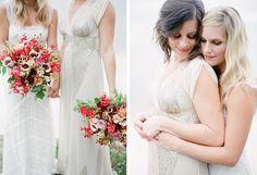 A sweet seaside wedding by Mi Amore Foto - Wedding Party #samesexwedding