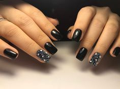 cool 40 Fascinating Ways to Style Black Nails – Topping the Ladder of Elegance
