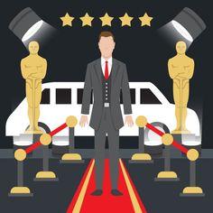 Ilustración de premios oscar Vector Gratis