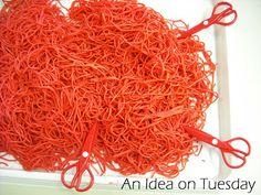 ": Learning to Use Scissors - cutting spaghetti ("",)"
