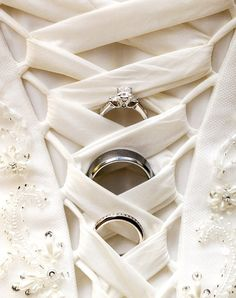 #Wedding #photography idea laced bodice dress gown with wedding rings ToniK Wedding #Hairstyles ♥ ❷ Clever By Mattnnat