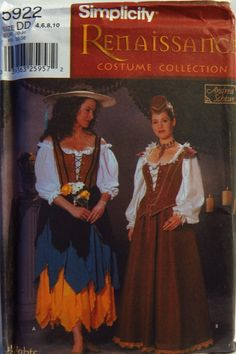 Simplicity 5922 Misses' Renaissance Costumes