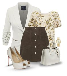 """""""Back to Basics... #2"""" by maryv-1 ❤ liked on Polyvore featuring VILA, Christian Louboutin, Prada and Kate Spade"""