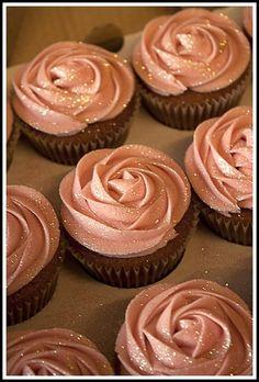 glitter cupcakes!  ~  we ❤ this! http://moncheribridals.com #weddingcupcakes