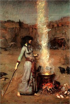 The Magic Circle - John William Waterhouse 1886