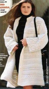 Пальто вязание спицами (2)