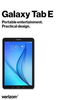 Delivering a world of experiences for the entire family, think of the Samsung Galaxy Tab E (CPO)as your own portable entertainment center. Get it today on Verizon.