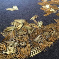 Olympus Sashiko Fabric - Sashiko Placemat Kit # 311 - Asanoha & Seven Treasures - Navy - Japanese Embroidery - Embroidery Design Guide Tambour Beading, Tambour Embroidery, Couture Embroidery, Gold Embroidery, Embroidery Fashion, Hand Embroidery Patterns, Cross Stitch Embroidery, Embroidery Needles, Crystal Embroidery