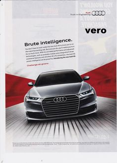 AUDI A6 2015 magazine photo print ad clipping advertisement pinup poster car