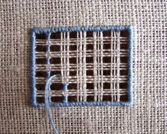 Šitá krajka: Výšivka na síti 3 - postup šití mřížky