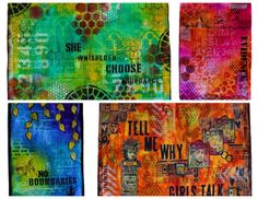 Art Journaling - Building Backgrounds - Mixed Media Workshop 3 of 3 at ART IS YOU  - Stamford CT (October 2015)