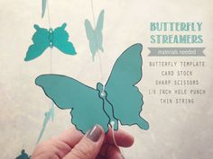 butterfly streamers perfect for a garden or spring themed party