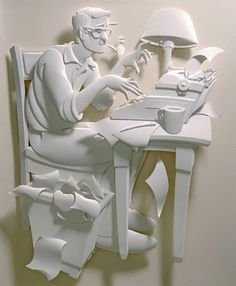 Creative 3D Paper Art - I find paper art unbelieveable - take a one dimensional piece of ordinary paper and create a 3D work of art