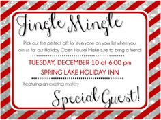 """""""Jingle Mingle"""" Postcard. Customer Graphic Design for Mary Kay Directors & Consultants www.kellymariedesigns.com $20"""