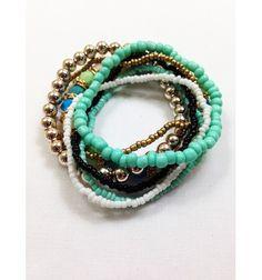 7 Piece Turquoise Bracelet Set