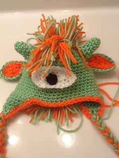Crochet Monster Alien Mohawk Hat PDF Pattern. $4.50, via Etsy.