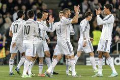 Groupe B: Bâle 0-1 Real Madrid / Une courte mais importante victoire car elle assure aux hommes de Carlo Ancelotti la première place du groupe. Un record égalé aussi pour le Mister, celui de 15 victoires consécutives de José Mourinho à la tête du Real.