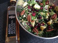 Recept: boerenkool salade met appel en cranberries http://www.ilovehealth.nl
