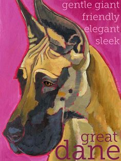 Great Dane No 10  art print from original oil by ursuladodge, $20.00