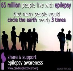 65 million people live with Epilepsy that many people would circle the earth nearly 3 times!