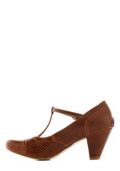 Just Like Honey Heel in Chocolate | Mod Retro Vintage Heels | ModCloth.com