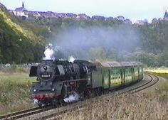 Reichsbahnzüge mit Dampflok 03 2204 und 65 1049 - DR 1993
