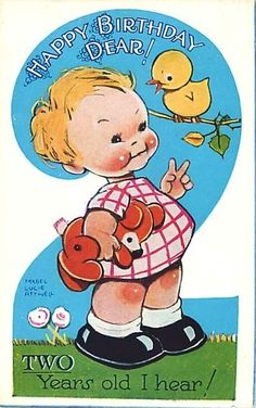 MABEL LUCIE ATTWELL SECOND BIRTHDAY THE NUMBER TWO UNUSUAL in Collectables, Postcards, Topographical: British | eBay