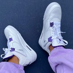 Jordan Shoes Girls, Girls Shoes, Cute Sneakers, Shoes Sneakers, Purple Sneakers, Purple Shoes, Purple Rain, Aesthetic Shoes, Aesthetic Style
