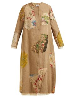 By Walid Tari print linen coat Quirky Fashion, Boho Fashion, By Walid, Silk Jacket, Textiles, Printed Linen, Looks Vintage, Sewing Clothes, Refashion