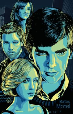 Bates Motel Poster on BehanceYou can find Bates motel and more on our website.Bates Motel Poster on Behance Norman Bates, Motel Bates, Bates Motel Tv Show, Horror Films, Horror Art, Freddie Highmore Bates Motel, Vera Farmiga, Film Serie, Alfred Hitchcock
