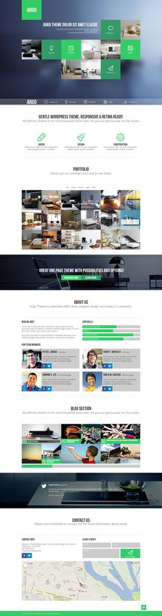 Argo - One Page Portfolio PSD Template by Zizaza - design ocean , via Behance