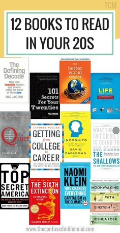 12 Books Everyone Should Read in Their early – The Confused Millennial – Dioné Raike 12 Books Everyone Should Read in Their early – The Confused Millennial books to read in your books to read for young adults, reading list, book recommendations Books To Read In Your 20s, Books Everyone Should Read, Best Books To Read, Good Books, Ya Books, Reading Lists, Book Lists, Reading Books, Book Of Love